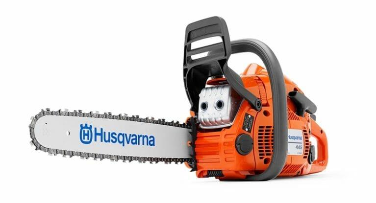 Husqvarna 445 II + säärekaitsed